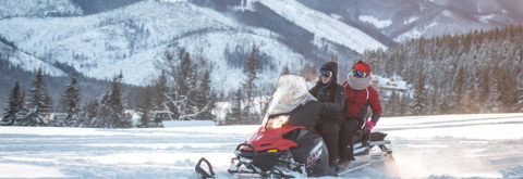Adventure on snowmobiles