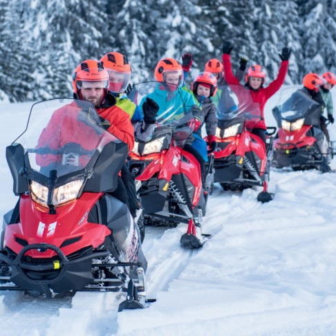Snowmobile FUN – 3 hours with BBQ guided Tour